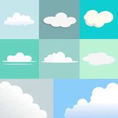 Set of Clouds with Different Shape and Texture.
