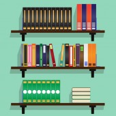 Bookshelf full of Books illustration.