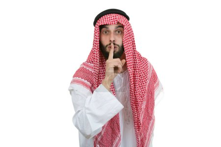Arab businessman in silence