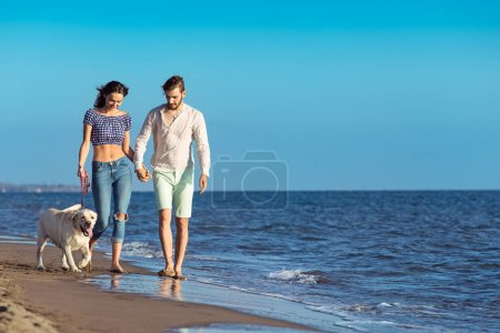 Two young people on the beach