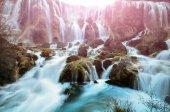 Waterfall in Jiuzhaigou national park, China