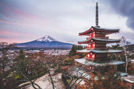 Mount Fuji, Chureito Pagoda in Autumn
