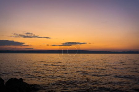 Photo for Sunset or sunrise at ocean beach landscape . Nature background. - Royalty Free Image